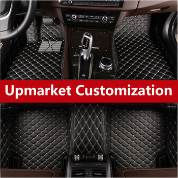 2018 High-Quality Car Styling Foor Mats With Trim Carpet Fit Left Drive Sticker For Skoda Superb Superb Fabia Rapid Yeti Rapid image
