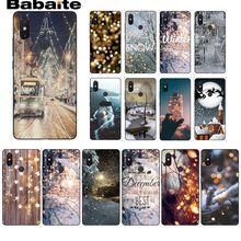 Babaite Landscape Winter Light Snow Customer Phone Case for Xiaomi Mi 6 Mix2 Mix2S Note3 8 8SE Redmi 5 5Plus Note4 4X Note5