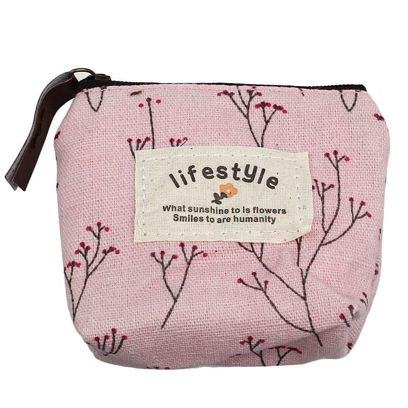 2018 New Fashion Women Small Canvas Purse Zip Wallet Lady Coin Case Bag Handbag Key Holder Billetera Mujer