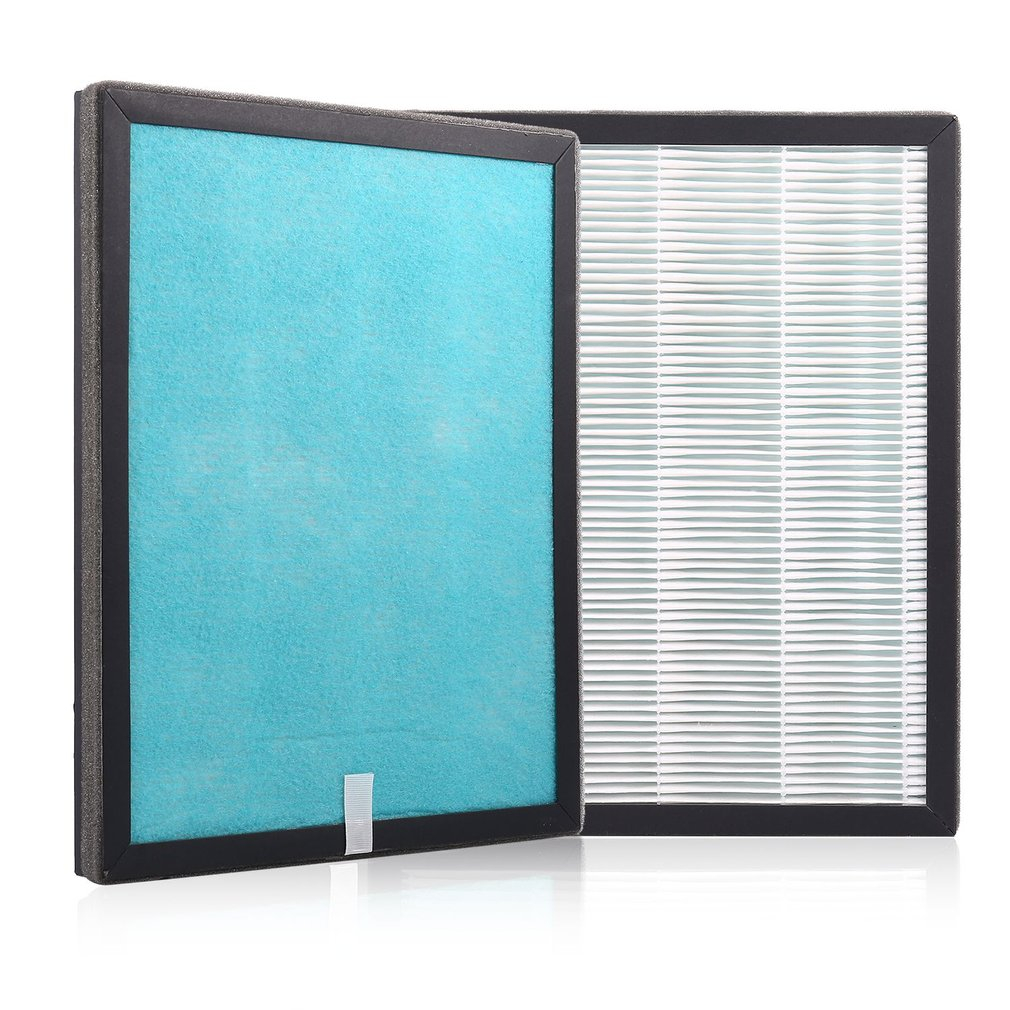 Premium Towel Gourd Filter Screen Nano HEPA Air Filter Three Filter in One Package Compatible with WEOOLA Air Purifier