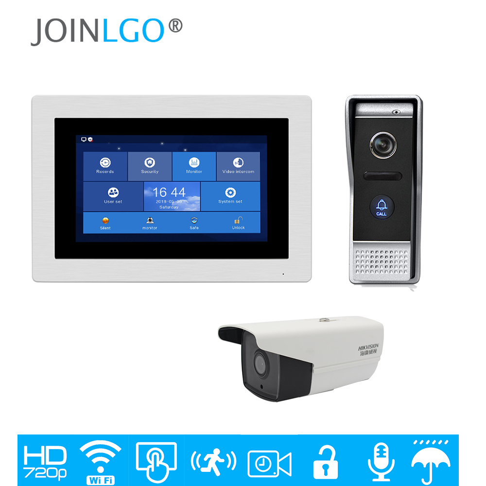 Free Ship 1 0MP 720P HD WIFI IP 7 Touch Screen Video Intercom Door Phone Record