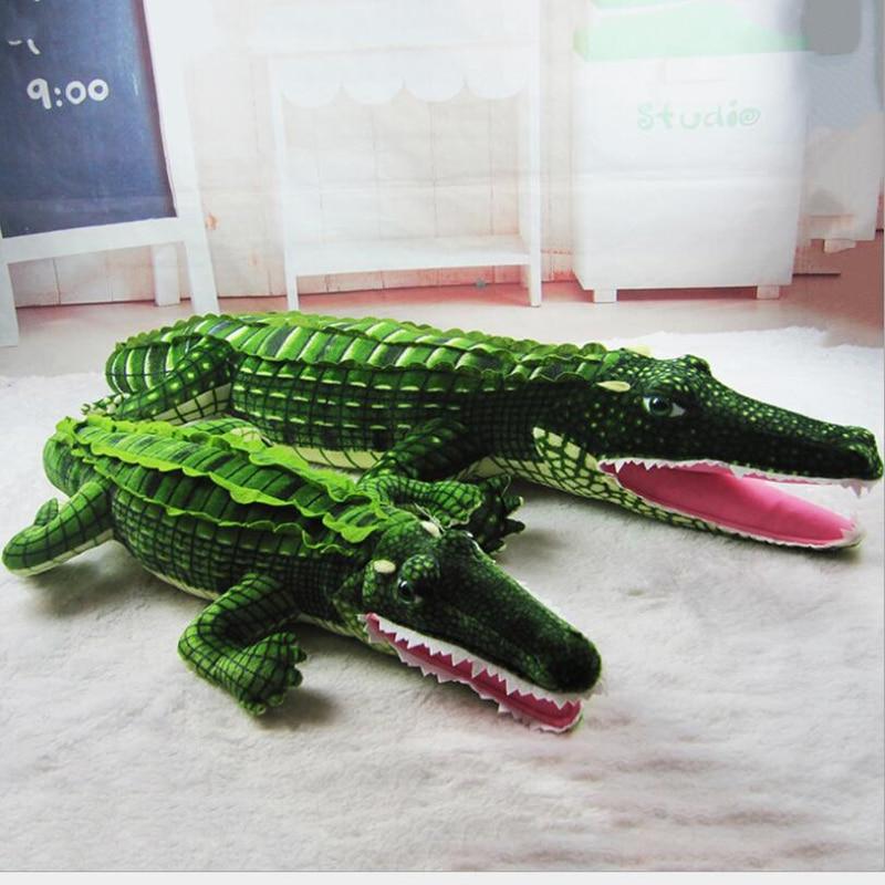 Simulation Crocodile Doll Plush Toy Crocodile Pillow Car Pillow Large Crocodile Plush Animal Toys Children Creative Pillow Gift