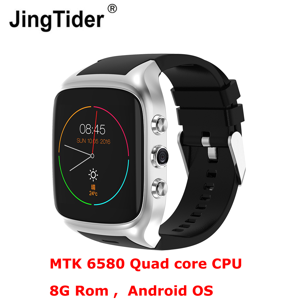 Android Smartwatch Смарт часы телефон X02S MTK6580 Quad core 8 г Встроенная память 3g WCDMA WI-FI gps 2.0MP Камера Bluetooth <font><b>600</b></font> мАч батареи
