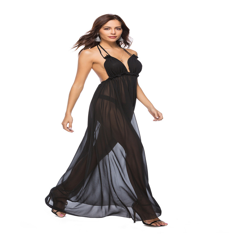 a00cf29e0fbdf US $26.51 49% OFF|2018 Summer Maxi Dress New Bohemian Female Solid  Sleeveless Spaghetti Strap Backless Ankle Length Ladies Sexy Long Dress-in  Dresses ...