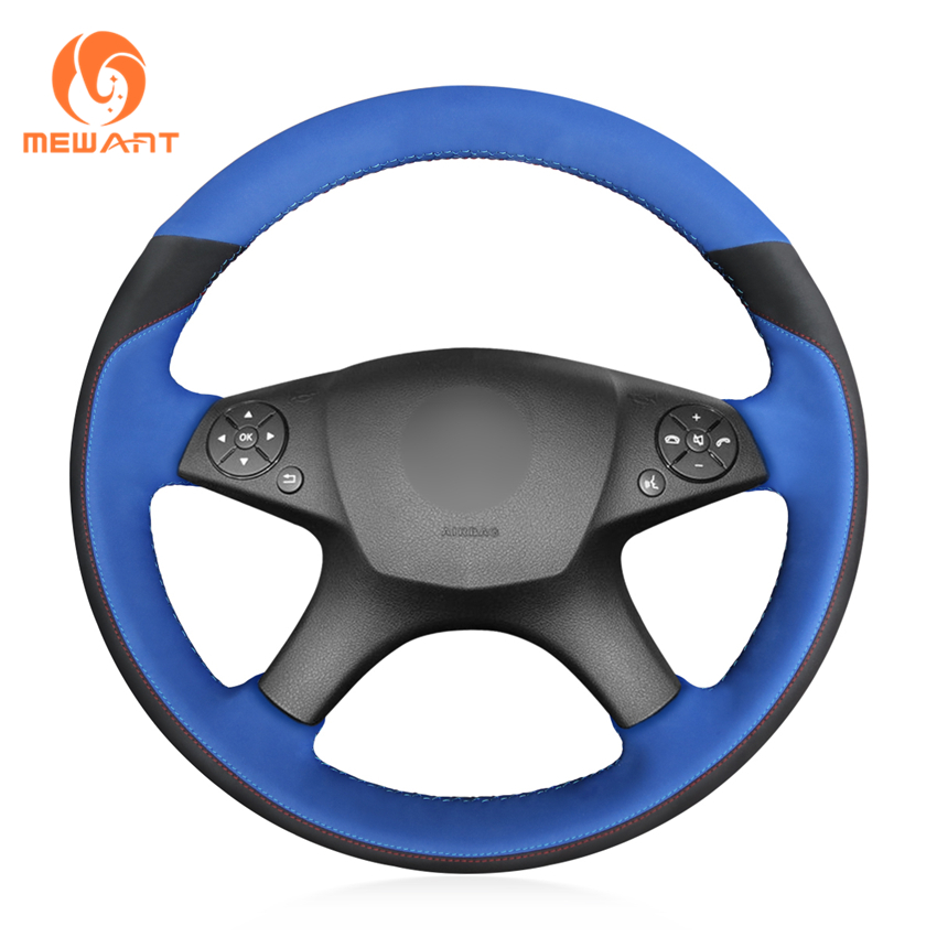 MEWANT Blue Synthetic Suede Car Steering Wheel Cover for Mercedes Benz W204 C-Class 2007-2010 C280 C230 C180 C260 C200 C300MEWANT Blue Synthetic Suede Car Steering Wheel Cover for Mercedes Benz W204 C-Class 2007-2010 C280 C230 C180 C260 C200 C300