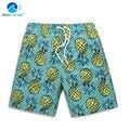 Men's Beach Shorts Board Surf Shorts Trunks Pineapple Pattern Quick-dry Men Sport Leisure Short Pants Summer Holiday A9