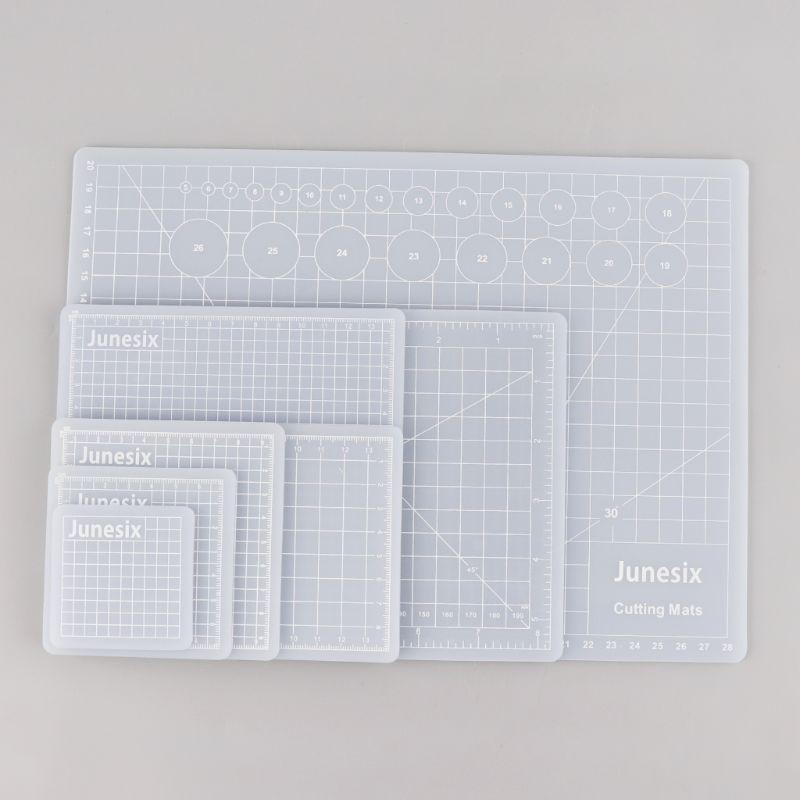 1Pc Translucent Cutting Pad Hand Account Sticker Scraping Compound PVC Multi-Purpose Cutting Pad Rubber Stamp Cutting Board