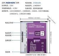 Hot Sale Original NOHON Battery BM41 Bateria Hongmi Red Rice 2 2A Replacement 2100mAh For Xiaomi