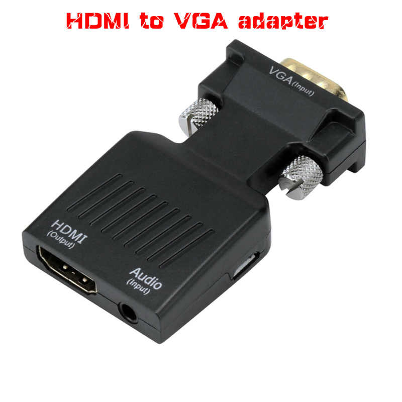 1080P HDMI To VGA Adapter Digital To Analog Audio Video Converter Cable for PC Laptop TV Box Projector