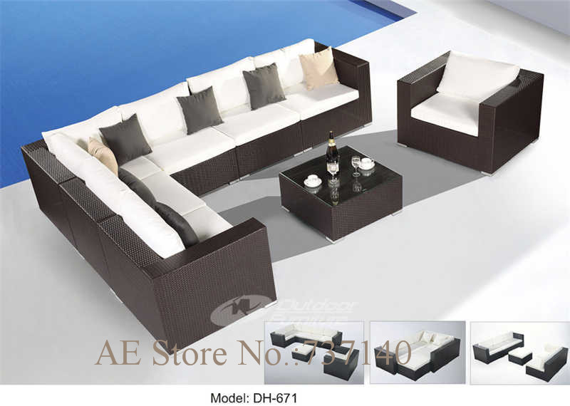 Rattan Sofa Wicker Outdoor Furniture Sectional Sofa Garden Furniture Cane Furniture  Furniture Buying Agent