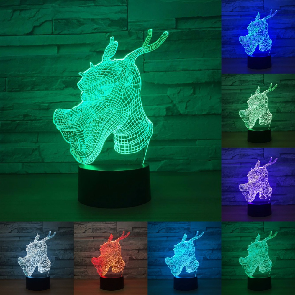 Dragon 7 Color Lamp 3d Visual Led Night Lights For Kids Touch Usb Table Lamp Baby Sleeping Nightlight Light IY803230