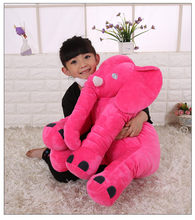 large 55x60cm soft cartoon elephant plush toy hot pink elephant doll soft throw pillow birthday gift 0222(China)