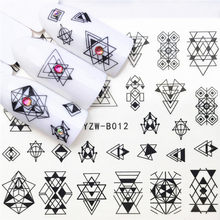 1 pcs Skull Halloween Plant Nail Sticker Water Decals Vrouwen Witte Bloem Kat Vlinder Transfer Nail Art Decoratie m3b8v(China)