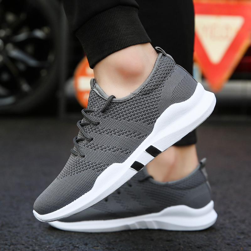 Faithful New Summer Mens White Shoes Mesh Breathable Men Casual Shoes Fly Weave Sneakers Spring Autumn Black Red Male Shoes Cool In Summer And Warm In Winter Glass