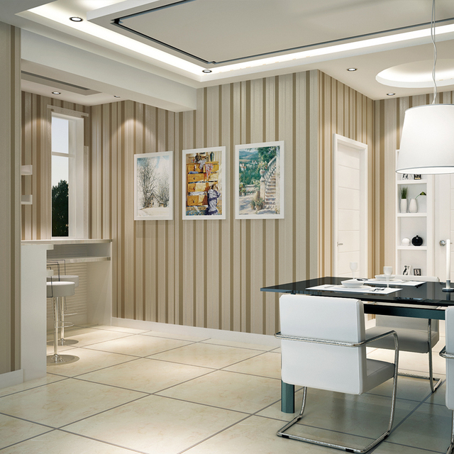 Beibehang papier peint chambre moderne minimaliste style salon toile de  fond rayures vertical papel parede