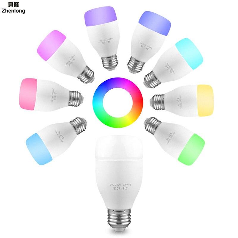18 Smds coloré Intelligent WIFI maison E27 ampoule synchronisation de musique vacances Led mode Support commande vocale AC110-240V