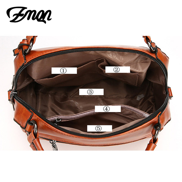 ZMQN Women Leather Handbag Brand Shoulder Bag Casual Tote Bag For Female Sac a Main Vintage Ladies Hand Bag Small Crossbody C603 4