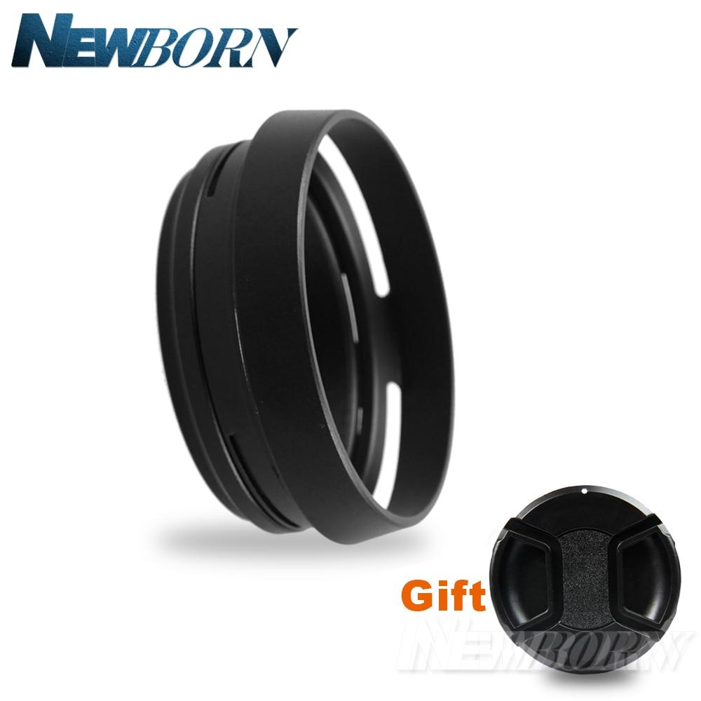 Black 49mm Lens Adapter Ring + Metal Lens Hood For Fujifilm Fuji X100 X70 X100S X100T Replace LH-X100 +Free Lens Cap
