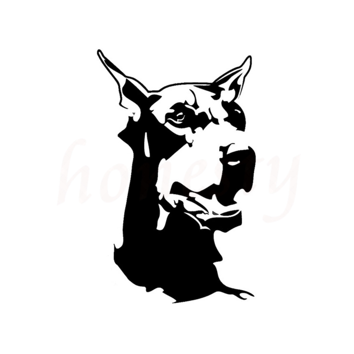 Doberman animal car sticker wall home glass window door laptop auto truck motorcycle vinyl decal decor