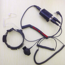 High Sensitive Throat control kits adjustable headphone 2 pins K for Kenwood BaoFeng ,PuXing,Quansheng,Wouxun etc Walkie Talkie