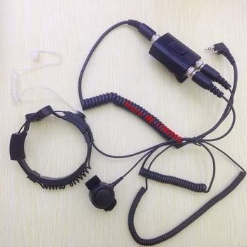 High Sensitive Throat control kits adjustable headphone 2 pins K for Kenwood BaoFeng ,PuXing,Quansheng,Wouxun etc Walkie Talkie