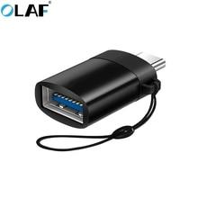 Olaf OTG type c USB C adaptateur pour Samsung Galaxy S8 S9 Note 8 téléphone portable Micro Type C USB C à USB 3.0 charge convertisseur de données