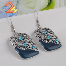 European and American popular retro hollow drip earrings free shipping