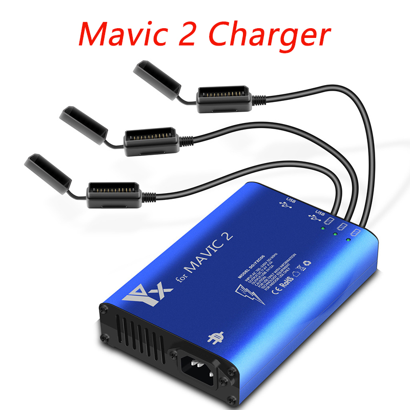 5-in-1 DJI Mavic 2 Charger Hub Battery Parallel Charging Hub Mavic 2 Pro/Zoom Fast Charger USB Controller Charger Accessories