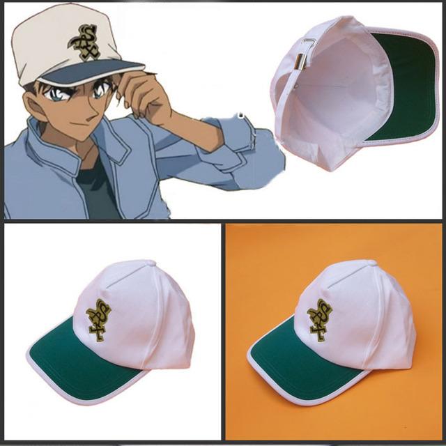 Anime Detective Conan Heiji Hattori Cosplay Ajustável Chapéu Bordado Boné de Beisebol Da Lona Presente Brinquedo