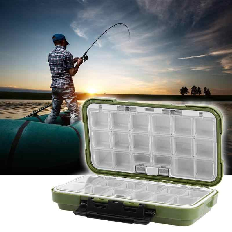 2018 Double Sided Fishing Box Waterproof 30 Compartment PVC Plastic Fishing Tackle Box Fishing Hook Lure Bait Storage Case