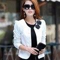 Preto / roxo / rosa / branco tops l, Xxl, 3xl, 4xl, 5XL broche de flor de mulheres casacos blazer