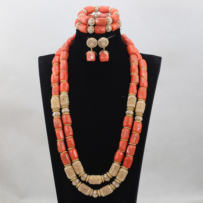 Trendy Jewelry Fashion African Coral Beads Bridal Jewelry Set Accessories for Nigerian Wedding Free Shipping ABH221Trendy Jewelry Fashion African Coral Beads Bridal Jewelry Set Accessories for Nigerian Wedding Free Shipping ABH221