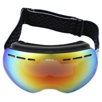 Outdoor Phibee Skiing Eyewear UV Protection Anti Fog Big Skiing Goggles Mask Windproof Men Women Snowboarding