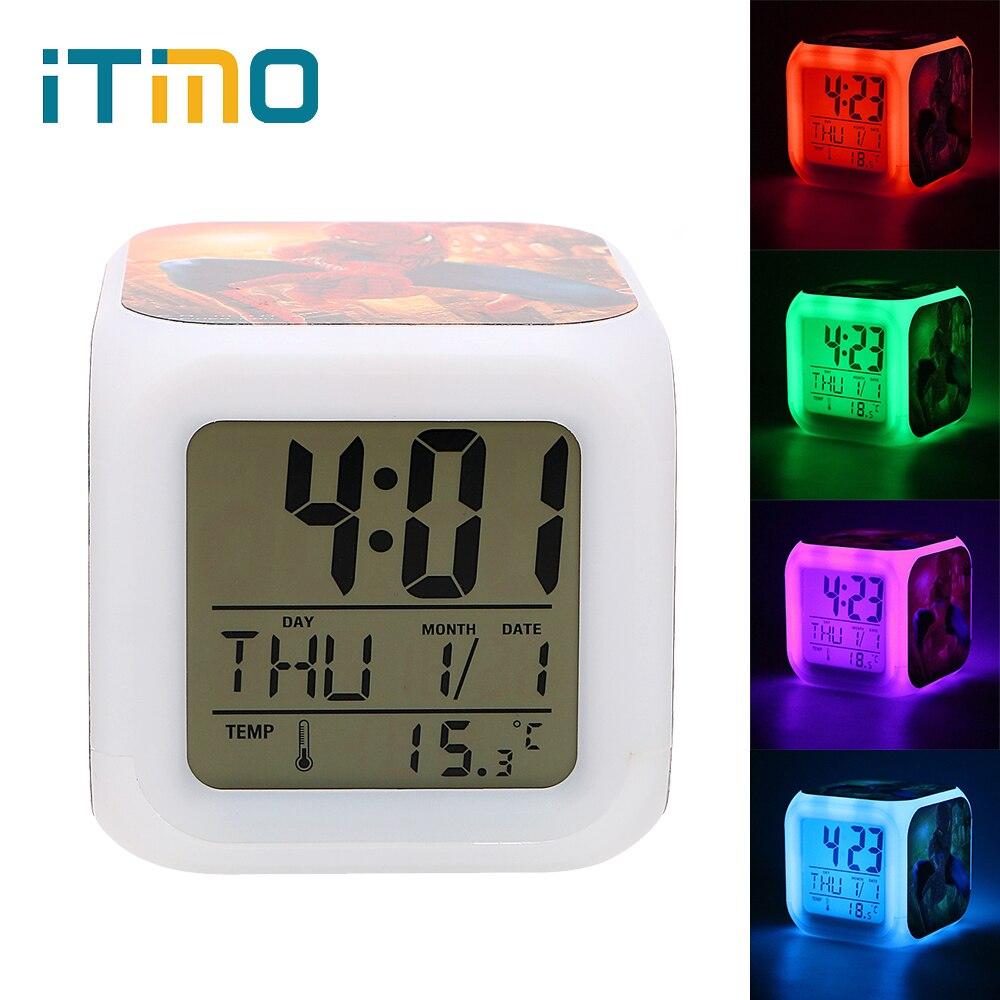 Itimo Color Change Digital Alarm Clock Glowing Led Night