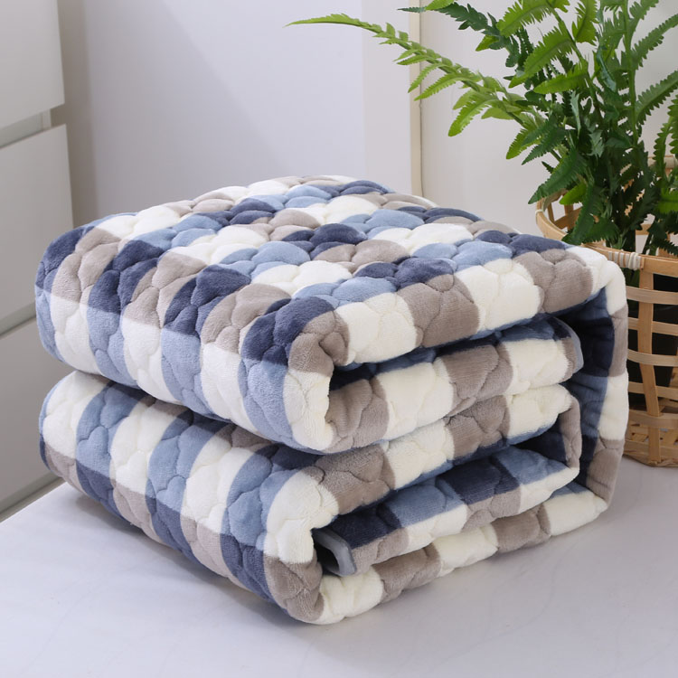 180X200CM Flannel blanket singleplayer thermal thickening coral fleece bed sheet cotton-padded blanket winter double layer virginio 180 x 200