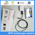 Wireless Iphone Android USB Endoscope flexible video Camera HD720P 1M Long Cable with Wifi Box IP67 Waterproof Inspection Camera