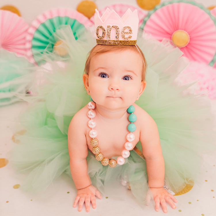 1 Piece Party Hats Birthday Decorations Girl Baby Cap Supplies Year Old In From Home Garden On Aliexpress