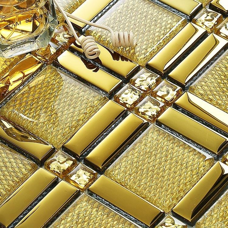 Compra ducha mosaico online al por mayor de china - Azulejos de cristal ...