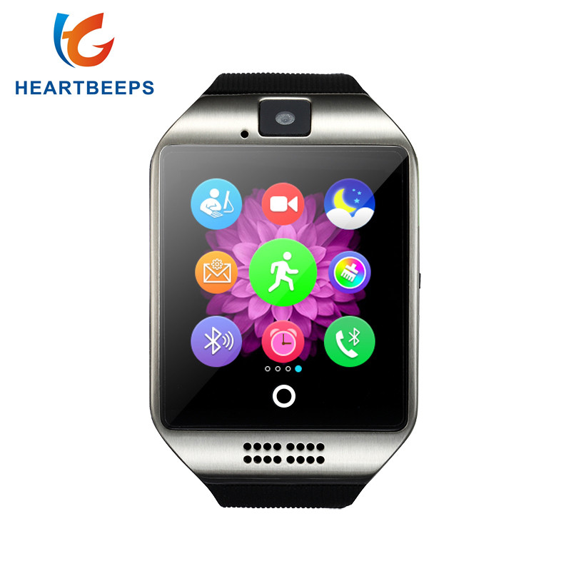 Smart Watch Q18 with Sim&TF Card Slot Push Message Camera Bluetooth Connectivity Android Phone better than DZ09 A1
