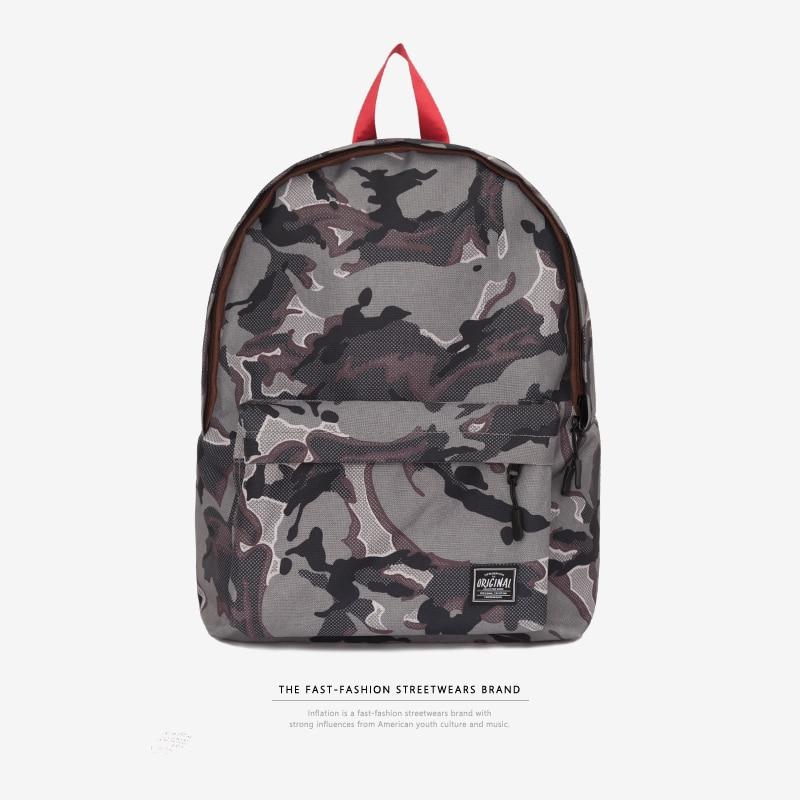 купить INFLATION New designer boys school bags women brand backpack men's shoulder bag fashion camouflage backpacks 173AI2018 по цене 1856.33 рублей
