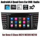Android4.4 Quad Core Car DVD FM AM radios Support DTV GPS 3G WiFi BT DAB+ TPMS For B/enz E C/lass W211 W209 W219 audio stereo