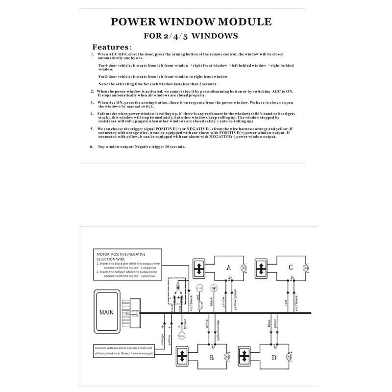 2 Windows Control Universal Best Auto Car Power Window For Two Doors