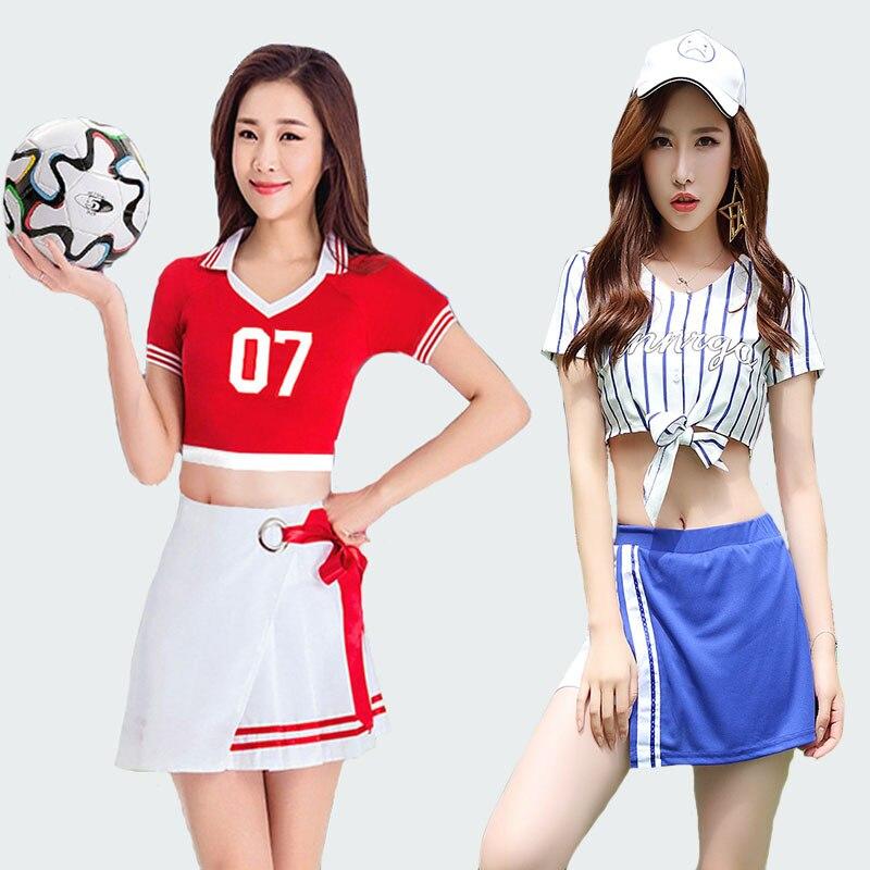 adult women High School Girl Musical Glee Baseball football Cheerleader Costume dress Cheer Uniform Cheerleading Dress stocking