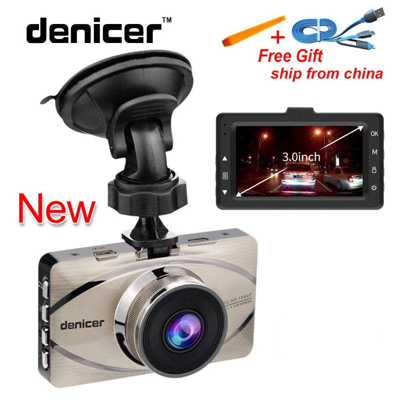 Denicer Car DVR Recorder Full HD 1080P Video Recorder G-Sensor Camera Automovil 170 Degree Car Registrar Night Vision Car Cam