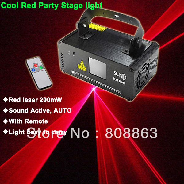 ESHINY Remote sound RED DMX512 Laser Stage Lighting Scanner effect light Smoke DJ Disco Party Stage Lights Show projector D68