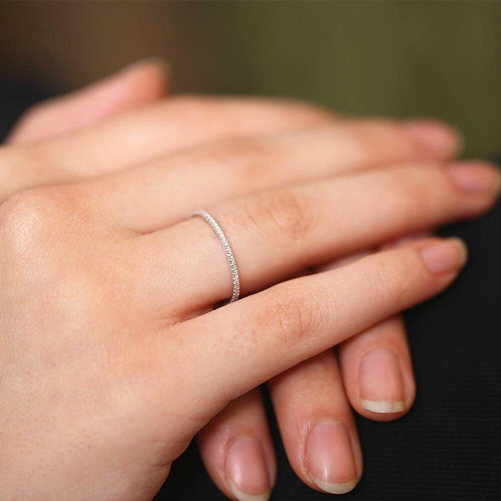 LASAMERO круглой огранки 0.25CTW природных алмазов 14 К золото вечность Обручение обещание обручальное кольцо подарок для нее Для женщин