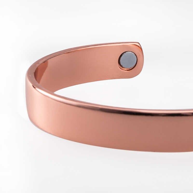 PICCOLA RANA Rosa bracciale In Oro uomini magneti braccialetto di salute magnetico braccialetto di rame puro braccialetti per gli uomini