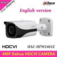 4MP Aparat HDCVI Dahua HDCVI Kamera Zewnętrzna Wodoodporna IP67 WDR Kamera IR Bullet IR Odległość 40 m 3.6mm stałe obiektyw HAC-HFW2401E