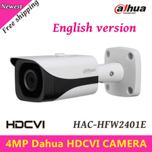 4MP Dahua HDCVI Camera Outdoor Waterproof IP67 HDCVI Camera WDR IR Bullet Camera IR Distance 40m 3.6mm fixed lens HAC-HFW2401E