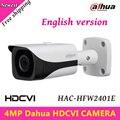 4mp câmera hdcvi dahua hdcvi câmera wdr ir bala câmera impermeável ao ar livre ip67 ir distância 40 m 3.6mm fixo lente hac-hfw2401e